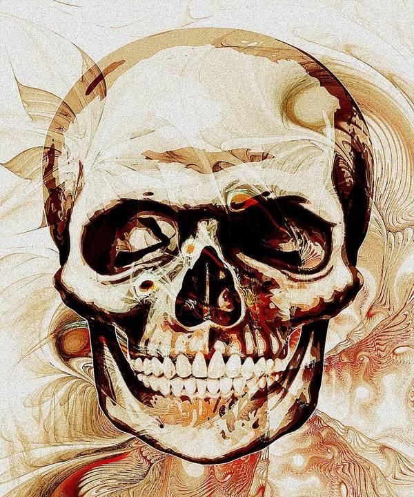 Computer Poster featuring the digital art Skull by Anastasiya Malakhova