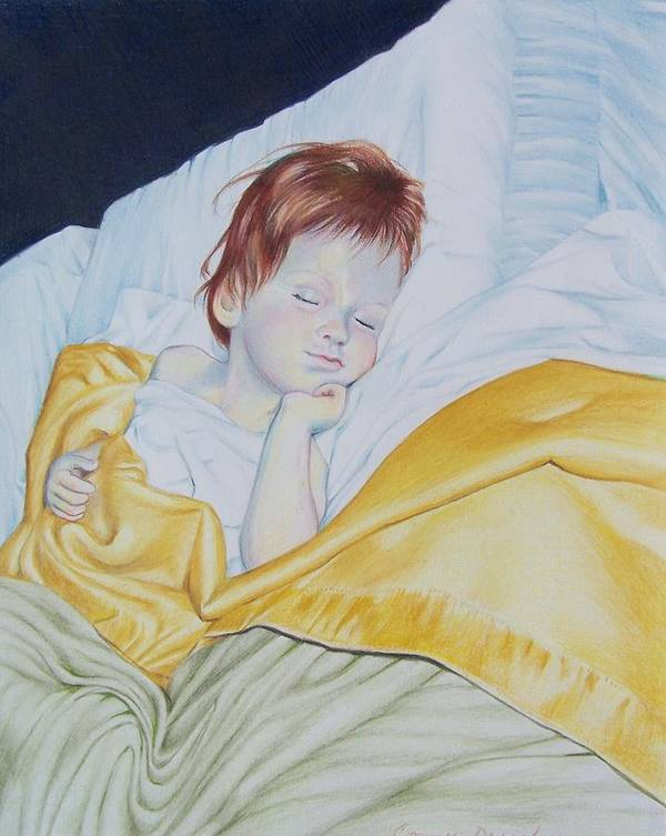 Baby Poster featuring the mixed media Sleeping Beauty by Constance Drescher