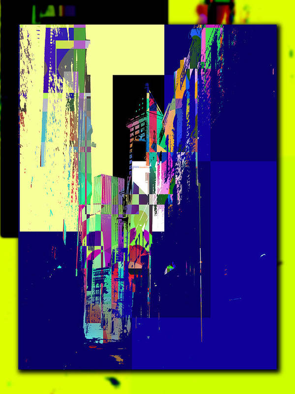 Abstract Poster featuring the digital art Smith Tower by Tim Allen