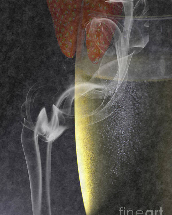 Wine Poster featuring the photograph Smokey by Brian Roscorla