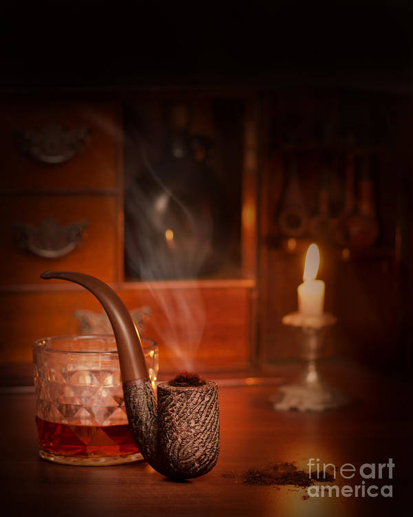 Pipe Poster featuring the photograph Smoking Pipe by Amanda Elwell
