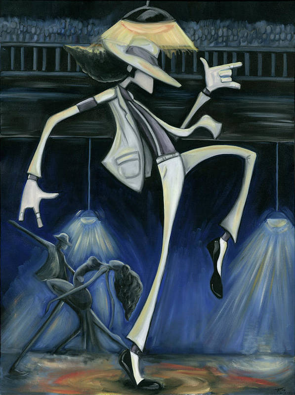 Smooth Poster featuring the painting Smooth Criminal by Tu-Kwon Thomas