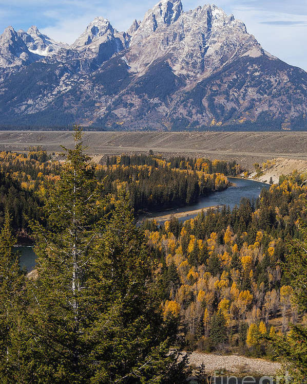 Grand Teton National Park Poster featuring the photograph Snake River Overlook One by Bob Phillips
