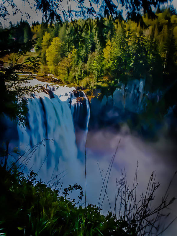 Waterfall Poster featuring the photograph Snoqualmie Falls by Jim DeLillo