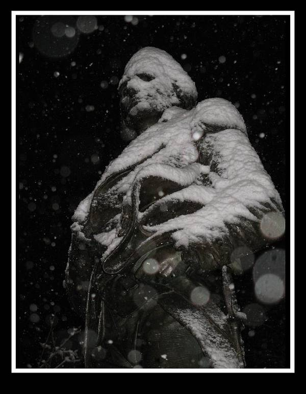Snow Poster featuring the photograph Snow Mask By Darryl Kravitz by Darryl Kravitz