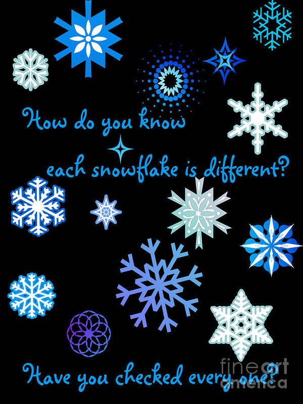 Snowflakes Poster featuring the digital art Snowflakes 2 by Methune Hively