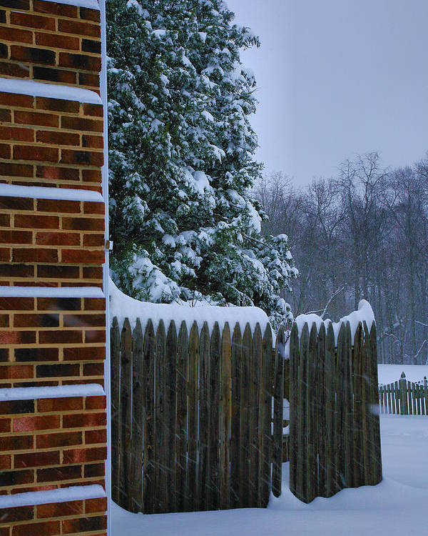 Snow Poster featuring the photograph Snowy Corner by Steven Ainsworth