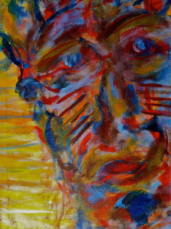 Portrait Poster featuring the painting Soul Searching by Abram Freitas
