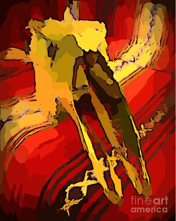 Skull Poster featuring the painting South Western Style Art With A Canadian Moose Skull by John Malone