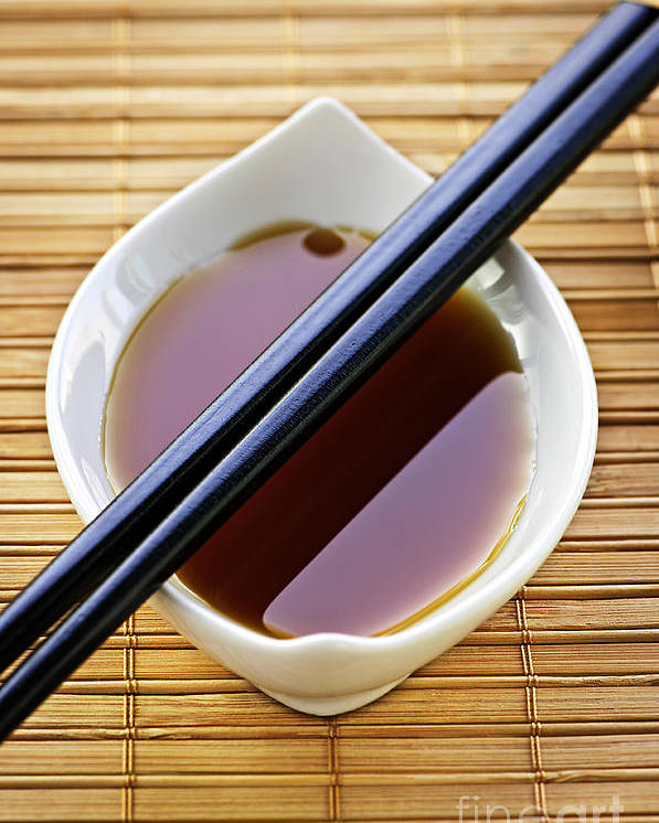 Chopsticks Poster featuring the photograph Soy Sauce With Chopsticks by Elena Elisseeva