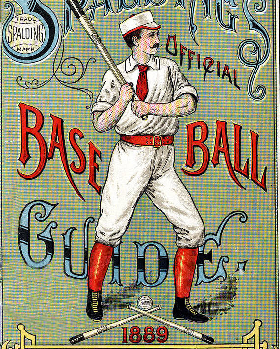 Spalding Baseball Ad Poster featuring the digital art Spalding Baseball Ad 1189 by Unknown