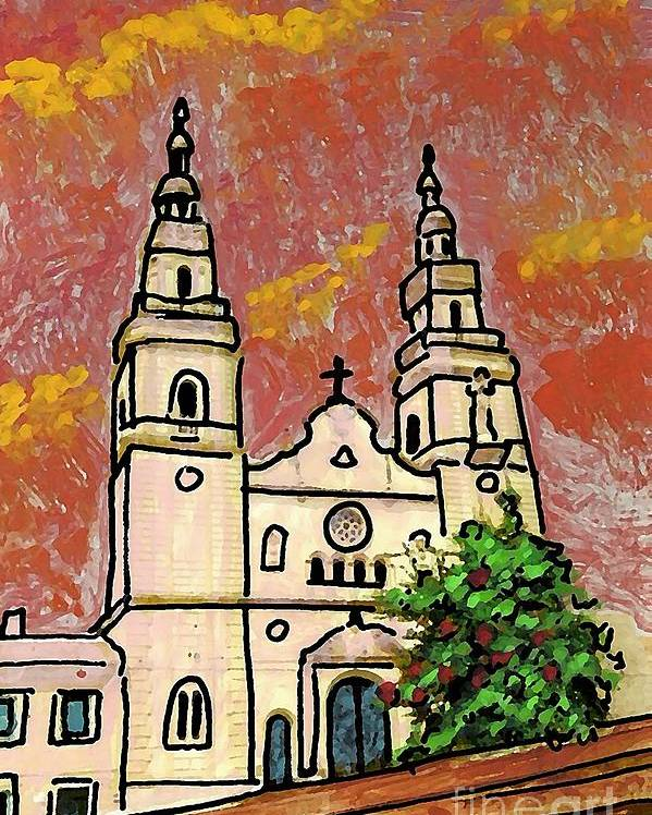 Spanish Church Poster featuring the photograph Spanish Church by Sarah Loft