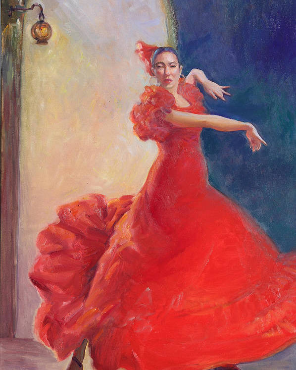 Digital Print from Oil Painting Dancers Print Mary Carroll Artworks Illustrations and Photographs
