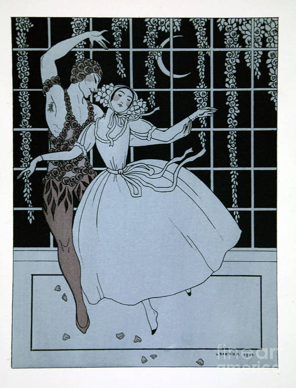 Ballet Poster featuring the painting Spectre De La Rose by Georges Barbier