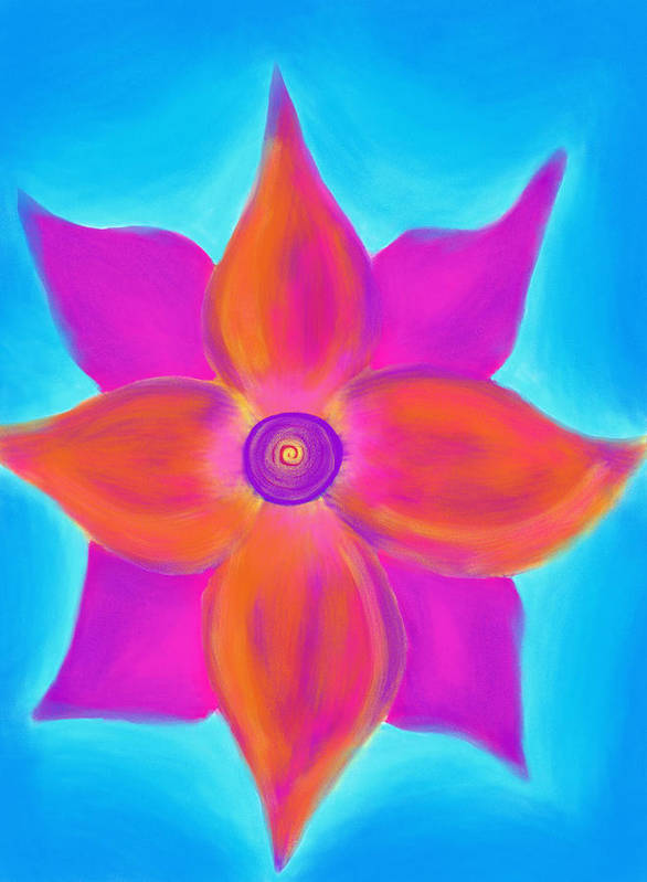 Spiral Poster featuring the painting Spiral Flower by Daina White