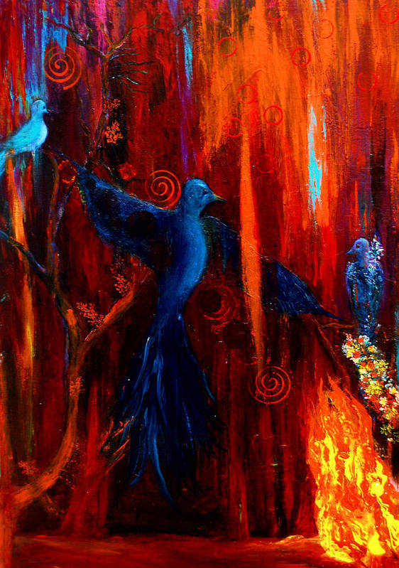 Birds Poster featuring the painting Spirit Of Peace by Patricia Motley
