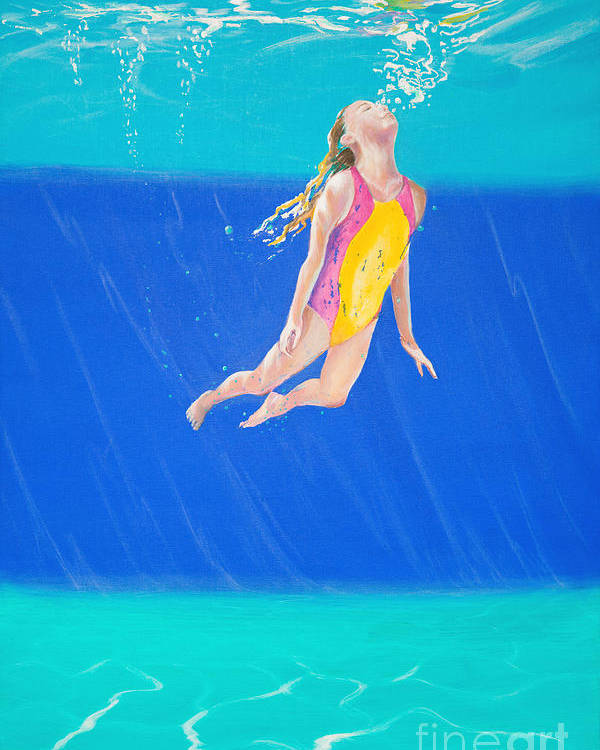 Swimmer Poster featuring the photograph Splash One by Lynne Barletta