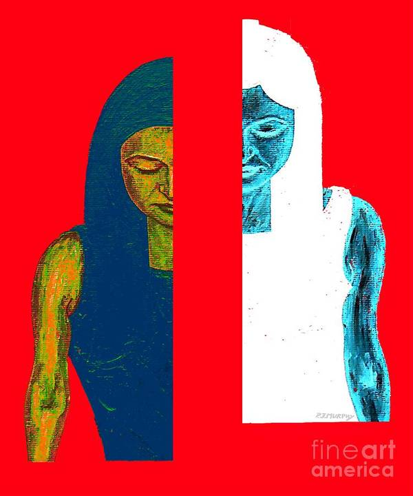 Psychology Poster featuring the painting Split Personality by Patrick J Murphy