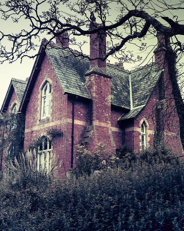 Spooky Poster featuring the photograph Spooky House by Joana Kruse