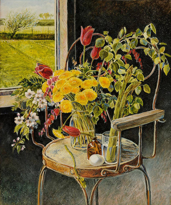Flowers Poster featuring the painting Spring Bouquet by Steve Spencer