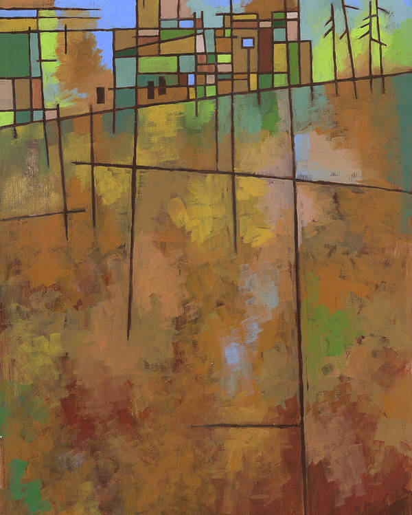 Abstract Poster featuring the painting Spring Melt by Douglas Simonson