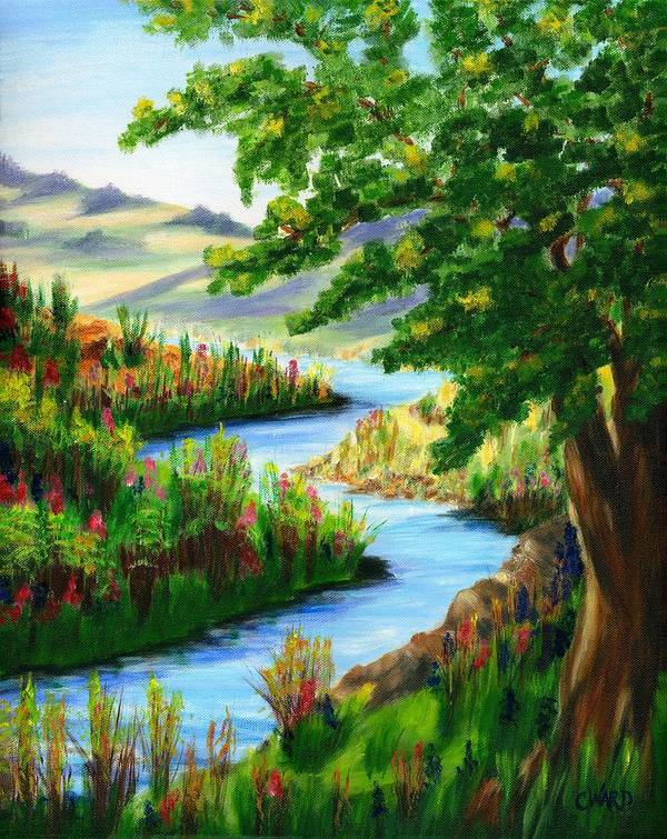 Spring Poster featuring the painting Springtime Oasis by Colleen Ward