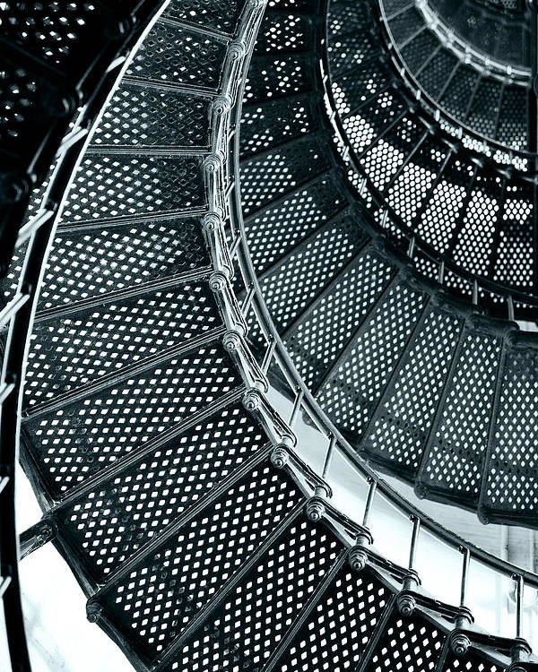 Saint Poster featuring the photograph St Augustine Lighthouse Staircase by Christine Till