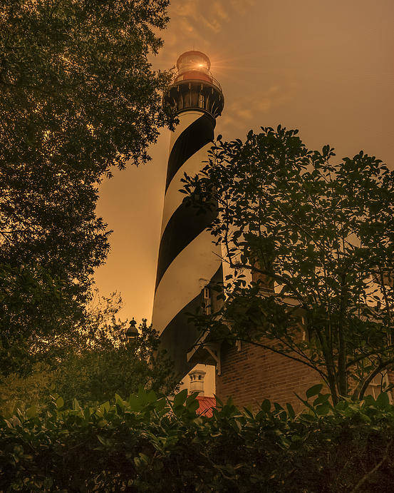 Lighthouse Poster featuring the photograph St. Augustine's Lighthouse by Errol Wilson