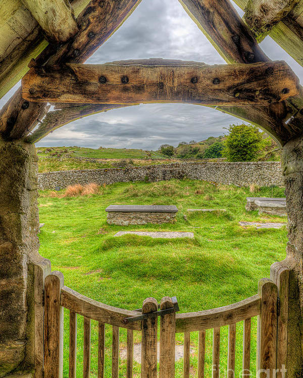 British Poster featuring the photograph St Celynnin Graveyard by Adrian Evans