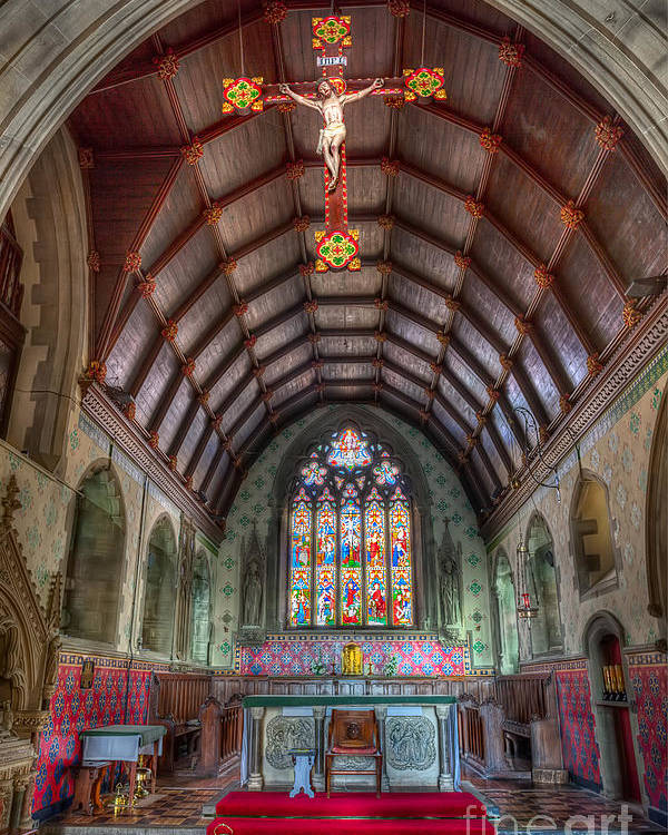 Altar Poster featuring the photograph St David's by Adrian Evans