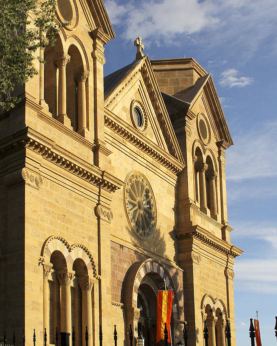 St. Francis Cathedral Poster featuring the photograph St. Francis Cathedral - Santa Fe by Mike McGlothlen