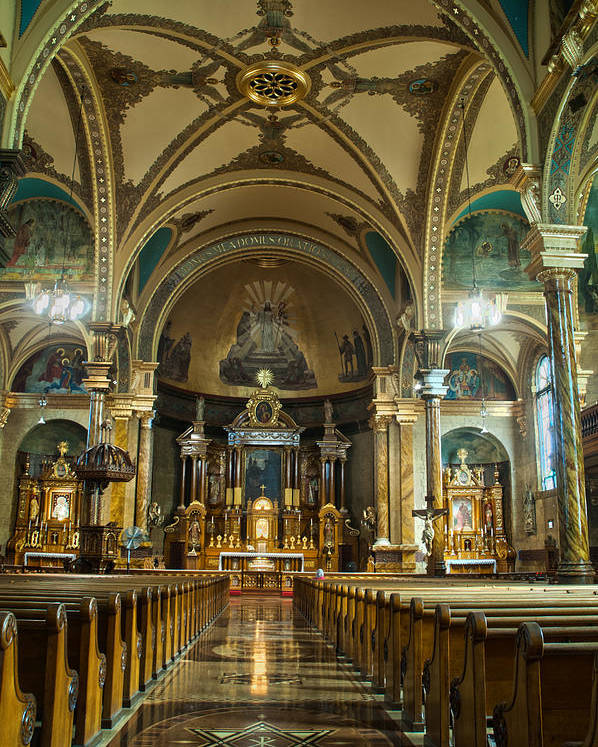 Chicago Poster featuring the photograph St. John Cantius by Roger Lapinski