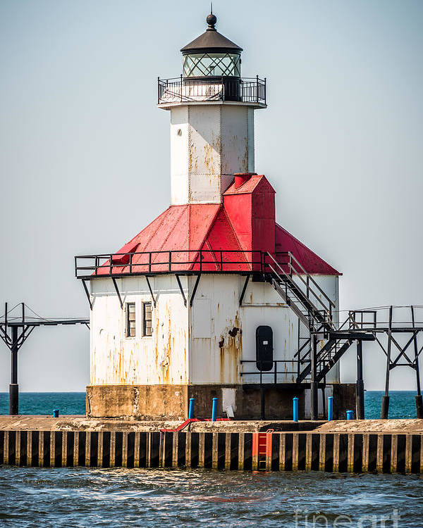 America Poster featuring the photograph St. Joseph Michigan Lighthouse Picture by Paul Velgos
