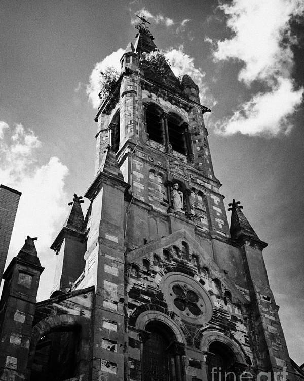 Belfast Poster featuring the photograph St Josephs Chapel Sailortown Belfast Northern Ireland Uk by Joe Fox