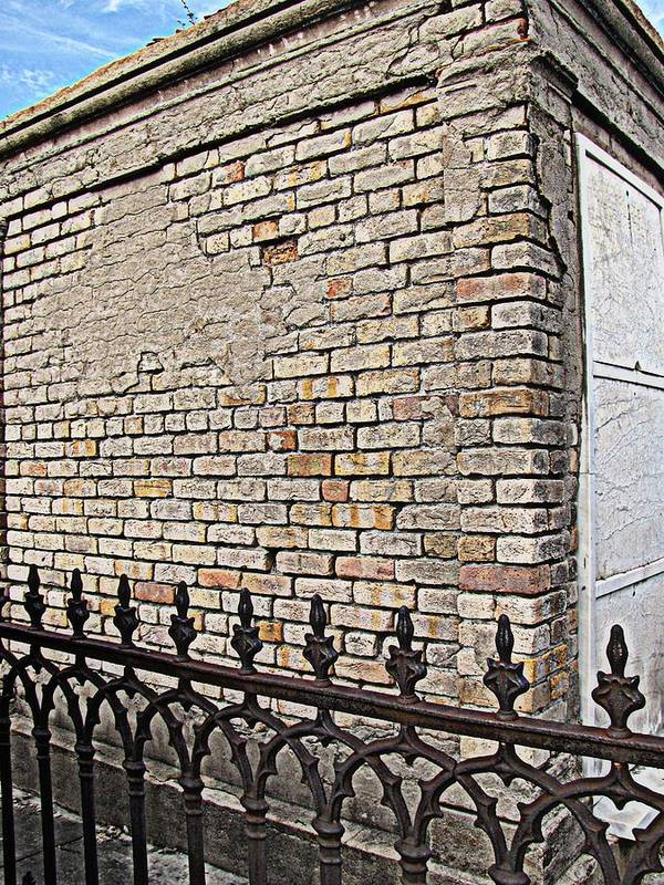 St Louis Cemetery No. 1 Poster featuring the photograph St Louis Cemetery No. 1 by Beth Vincent
