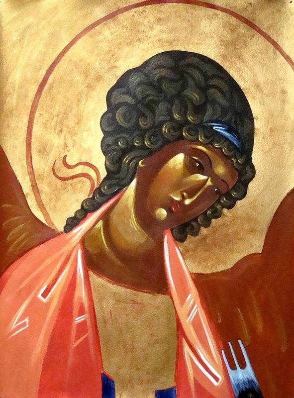 Icon Poster featuring the painting St. Michael by Joseph Malham