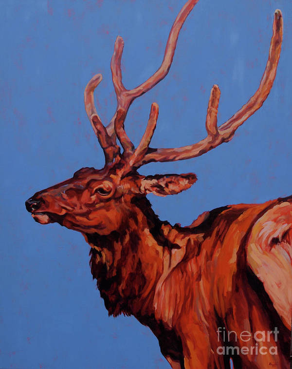 Stag Poster featuring the painting Stag by Patricia A Griffin