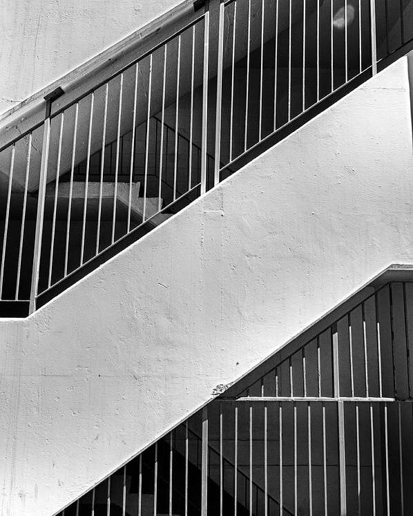 Bars Poster featuring the photograph Stairwell by Trever Miller