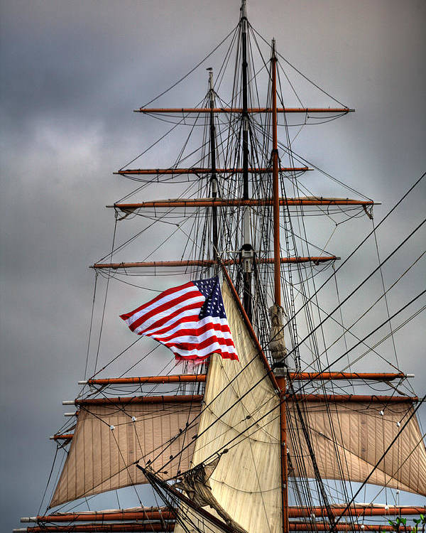 California Poster featuring the photograph Star Of India Stars And Stripes by Peter Tellone