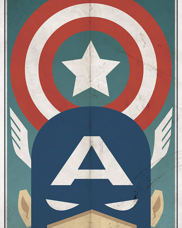 Hero Poster featuring the digital art Star-spangled Avenger by Michael Myers