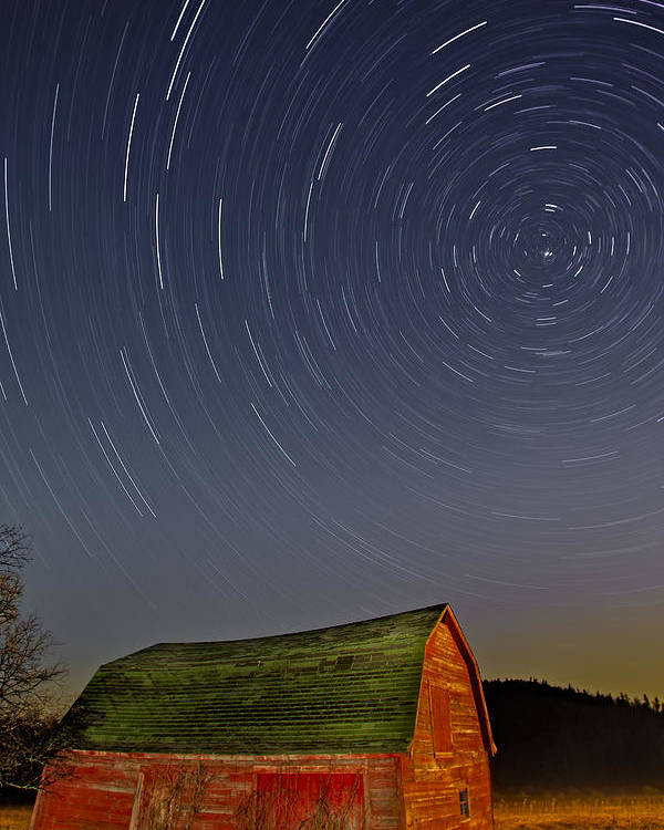 Star Trails Poster featuring the photograph Starry Night by Susan Candelario