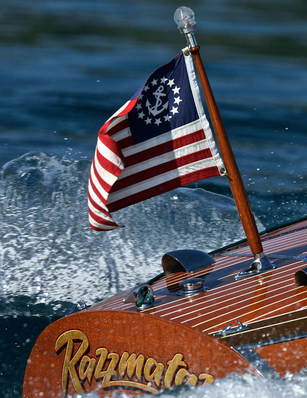 Ensign Poster featuring the photograph Stars And Stripes Ensign by Steven Lapkin