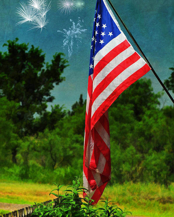 Stars And Stripes Poster featuring the photograph Stars And Stripes Forever by Karen Slagle
