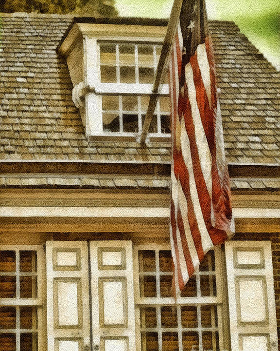 Stars And Tripes Poster featuring the painting Stars And Stripes by Mo T