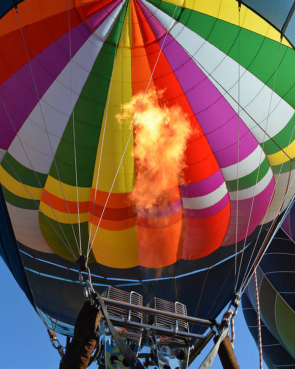 Hot Air Balloons Photographs Poster featuring the photograph Start The Engines by Ricardo Dominguez