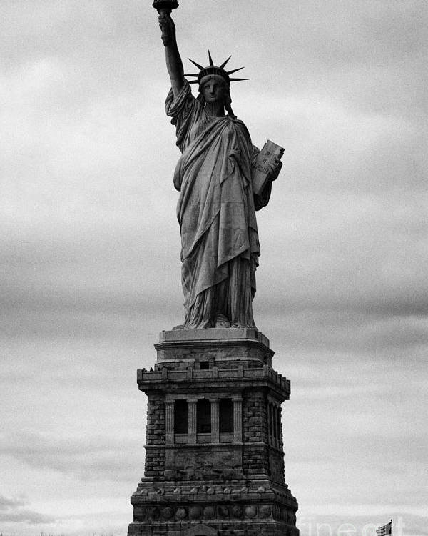 Usa Poster featuring the photograph Statue Of Liberty National Monument Liberty Island New York City Usa Nyc by Joe Fox