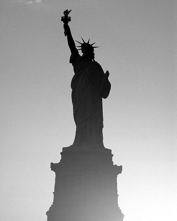 Statue Of Liberty Poster featuring the photograph Statue Of Liberty by Tony Cordoza
