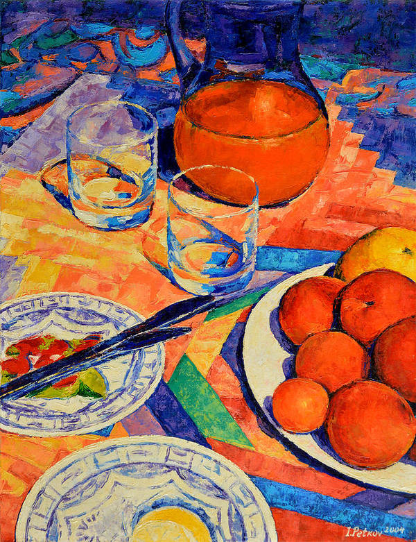 Still Life Poster featuring the painting Still Life 1 by Iliyan Bozhanov