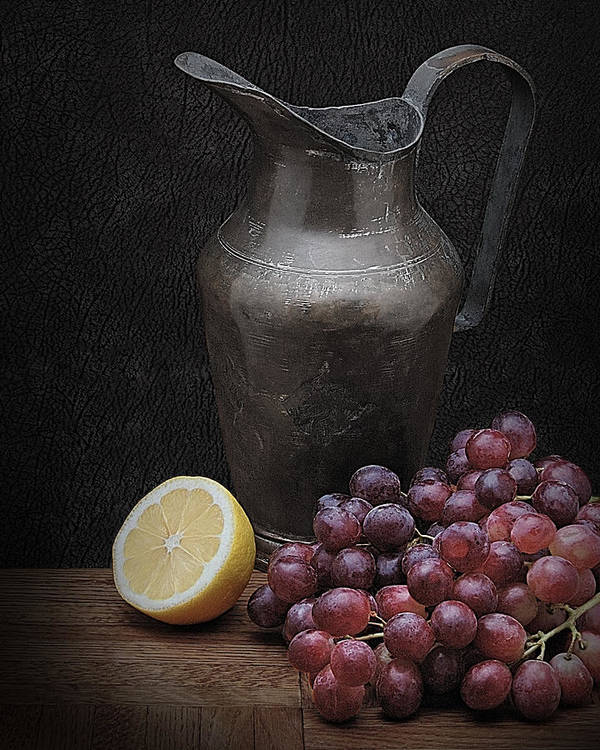 Art Poster featuring the photograph Still Life With Grapes by Krasimir Tolev