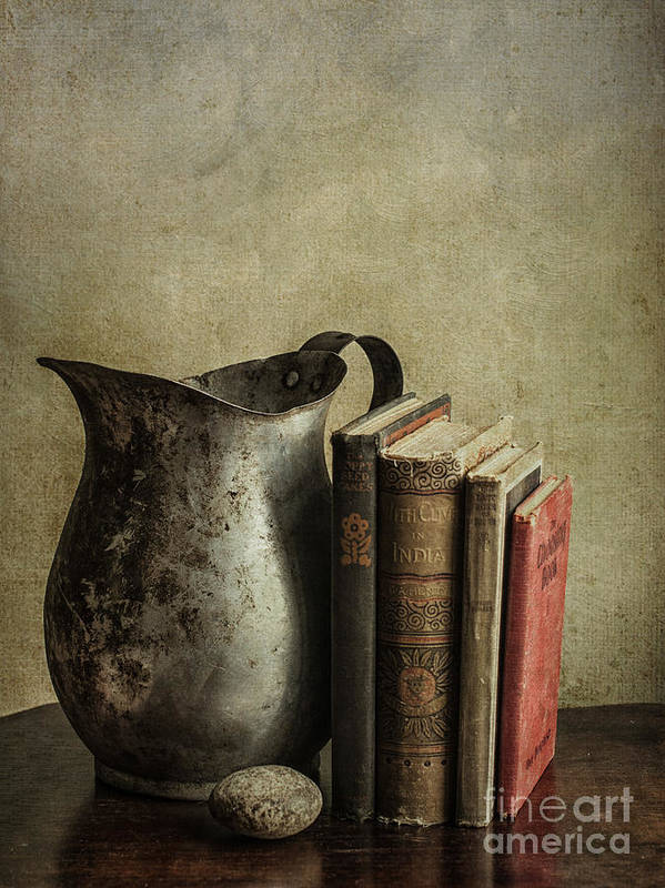 Books Poster featuring the photograph Still Life With Pitcher by Terry Rowe